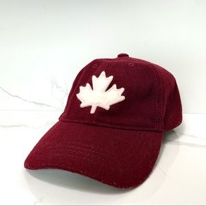 ROOTS Red & White Canada Maple Leaf Hat